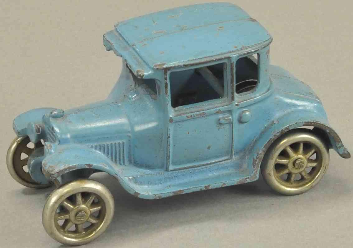 arcade spielzeug gusseisen auto coupe modell t blau