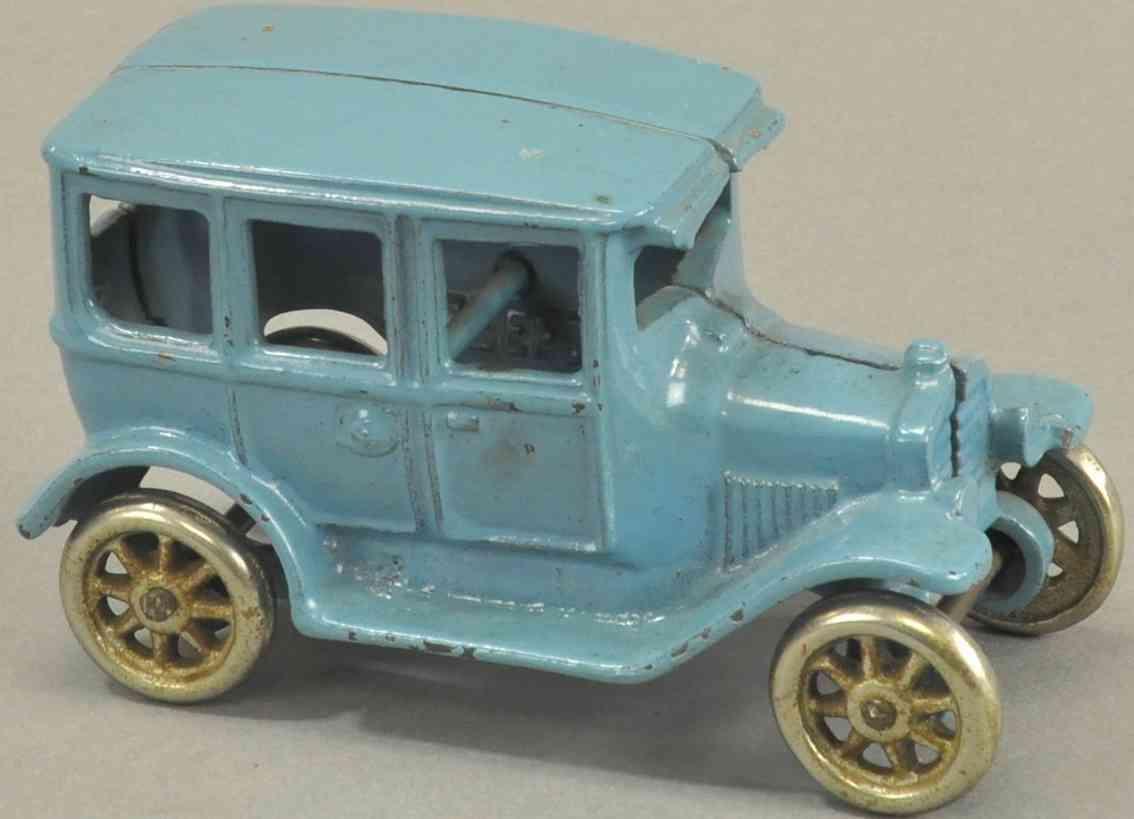 arcade spielzeug gusseisen auto modell t fordor blau