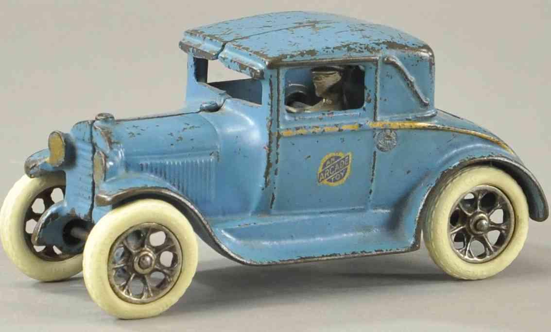 arcade spielzeug gusseisen auto modell a coupe blau speichenrader