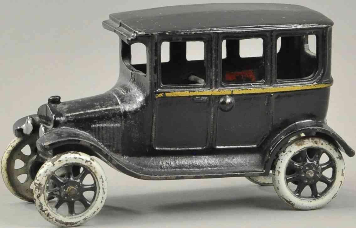 arcade  spielzeug gusseisen auto modell t auto schwarz gold