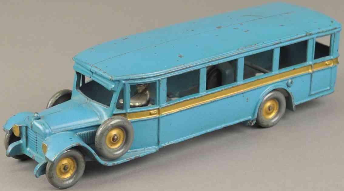 arcade spielzeug gusseisen reisebus blau