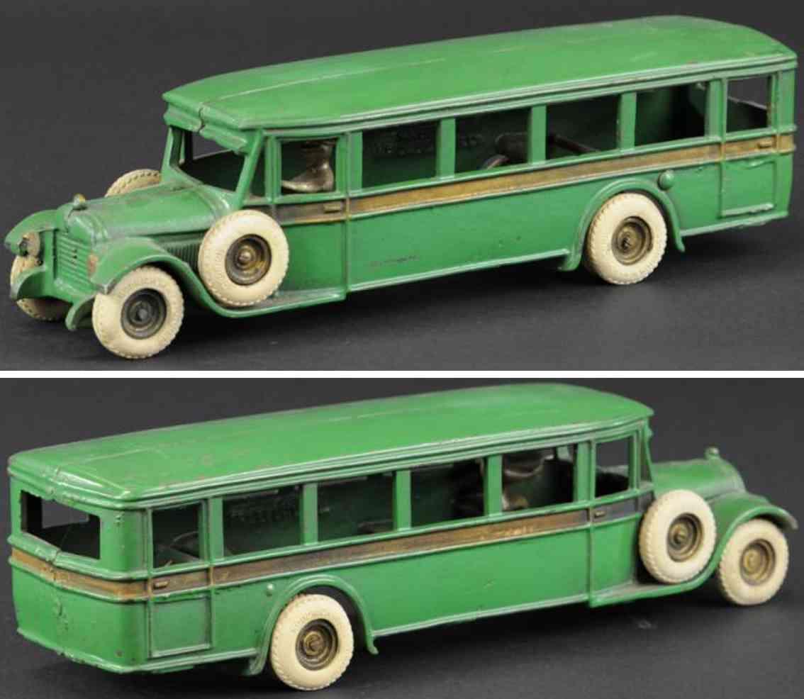 arcade spielzeug gusseisen autobus gruen