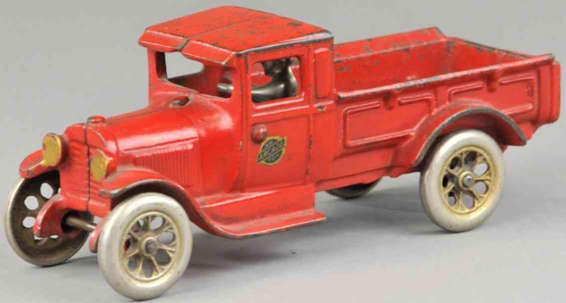 arcade gusseisen ford pickup lastwagen rot fahrer