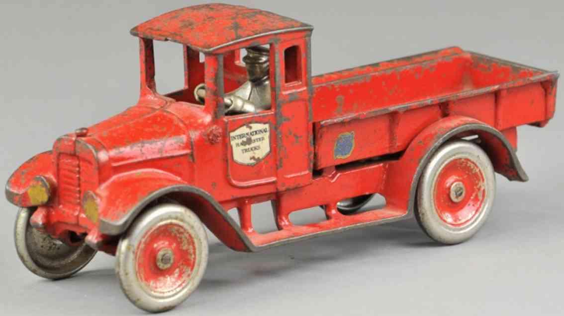 arcade spielzeug gusseisen lastwagen rot