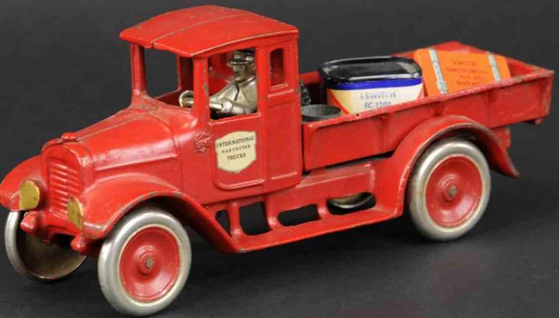 arcade red baby (10) spielzeug gusseisen lastwagen ladeflaeche rot