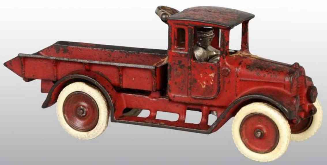 arcade red baby spielzeug gusseisen kipplastwagen rot international harvester