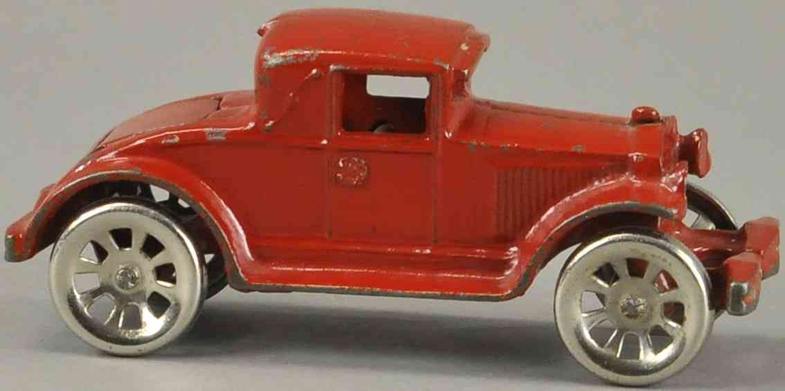 arcade spielzeug gusseisen auto coupe mit nositz rot