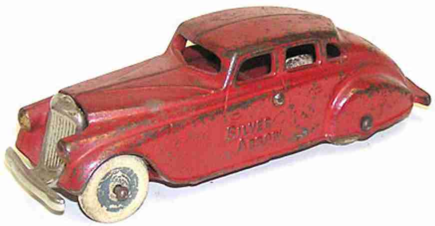 arcade spielzeug gusseisen auto silberpfeil rot