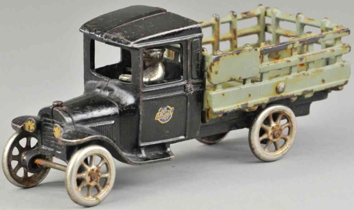 arcade spielzeug gusseisen lastwagen chevy rungenwagen schwarz grau