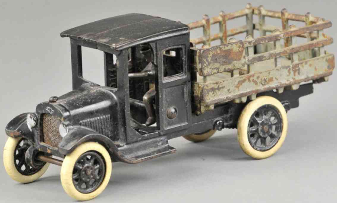 arcade spielzeug gusseisen chevy lastwagen schwarz grau
