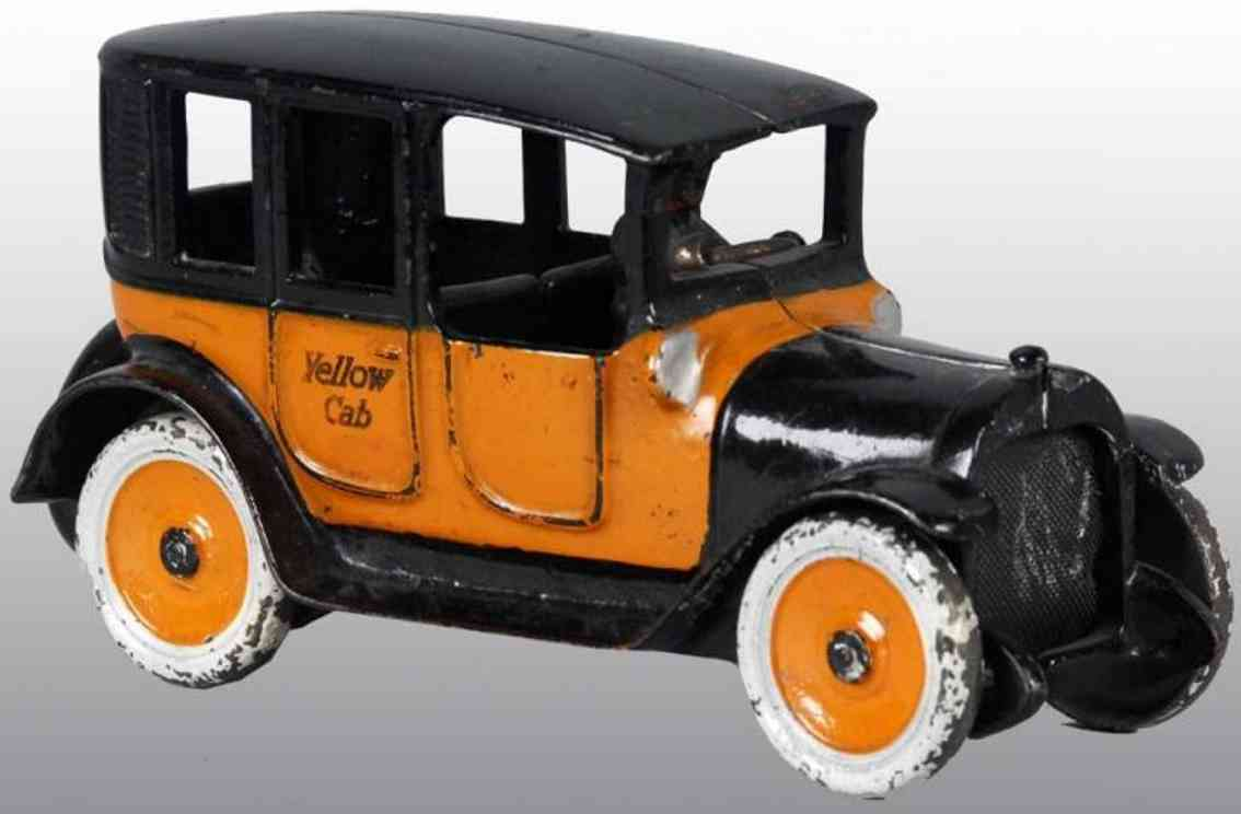 arcade spielzeug gusseisen auto taxi orange schwarz