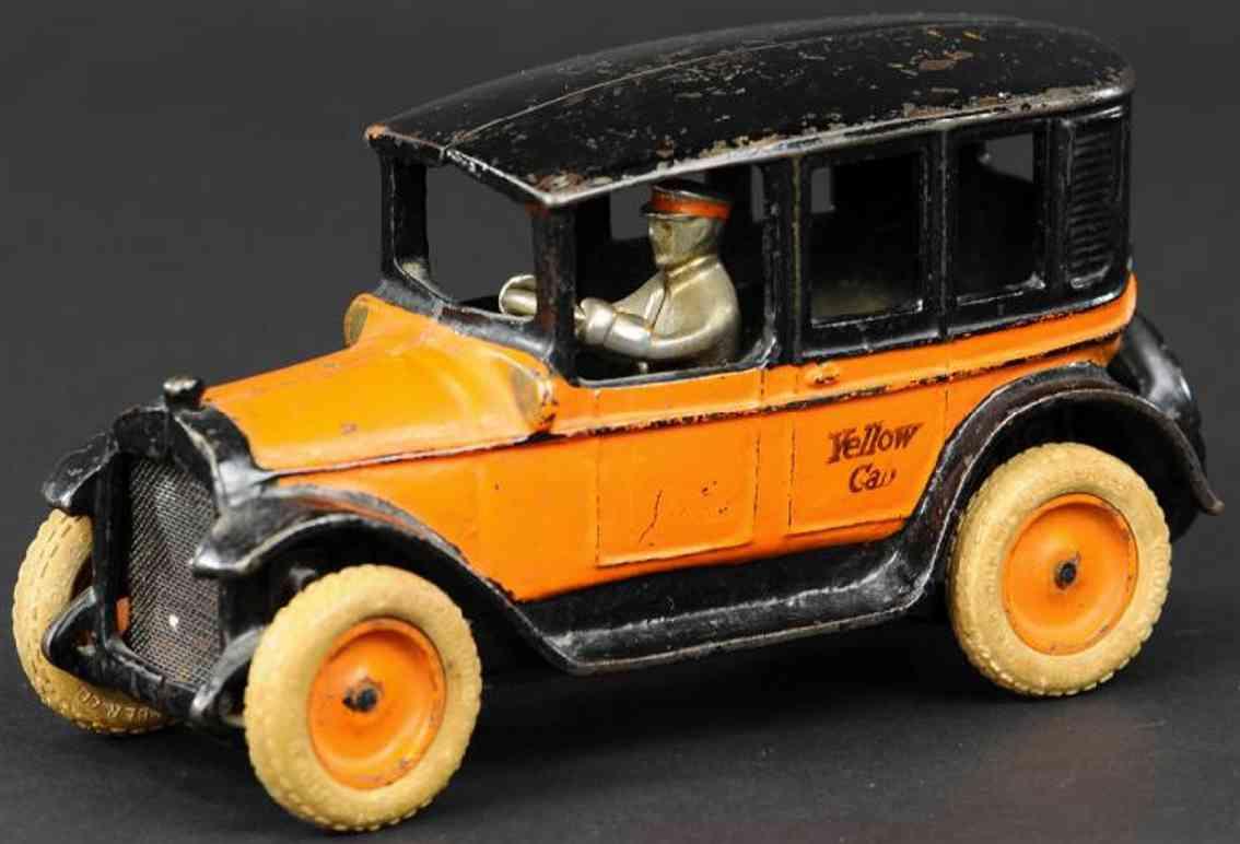 arcade spielzeug gusseisen auto taxi orange