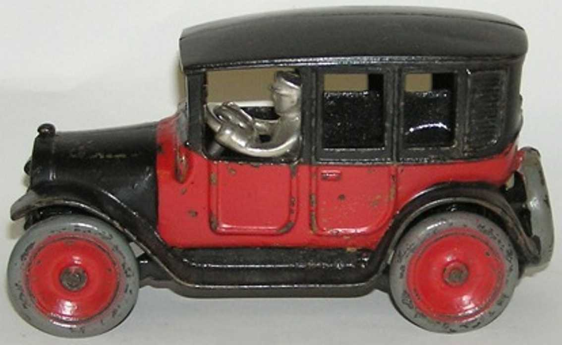 arcade spielzeug gusseisen taxi rot schwarz