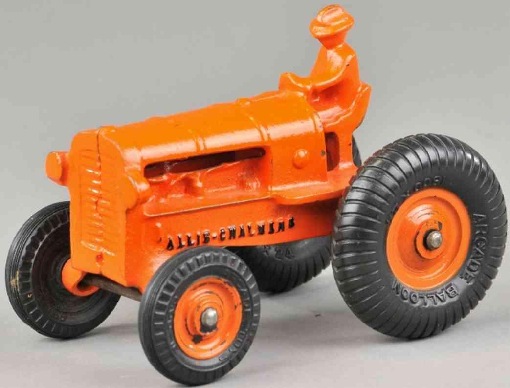 arcade spielzeug gusseisen allis chalmers traktor orange