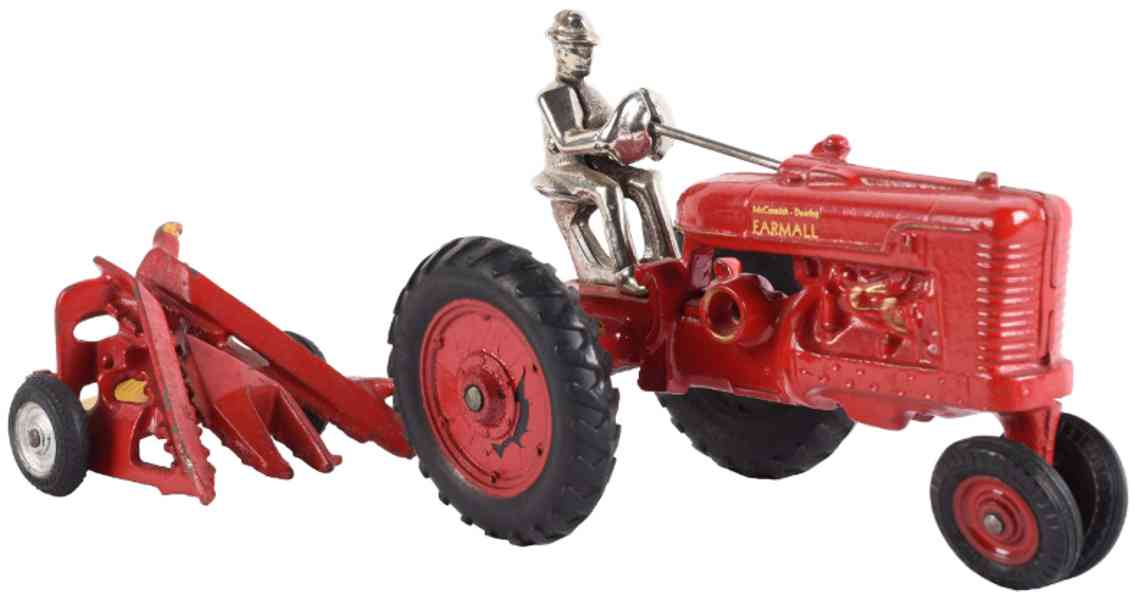 arcade cast iron toy mccormick-deering framall tractor red farm implement