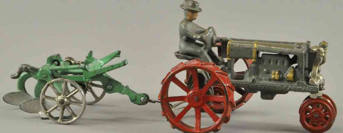 arcade spielzeug gusseisen mccormick deering farmall traktor mit pflug