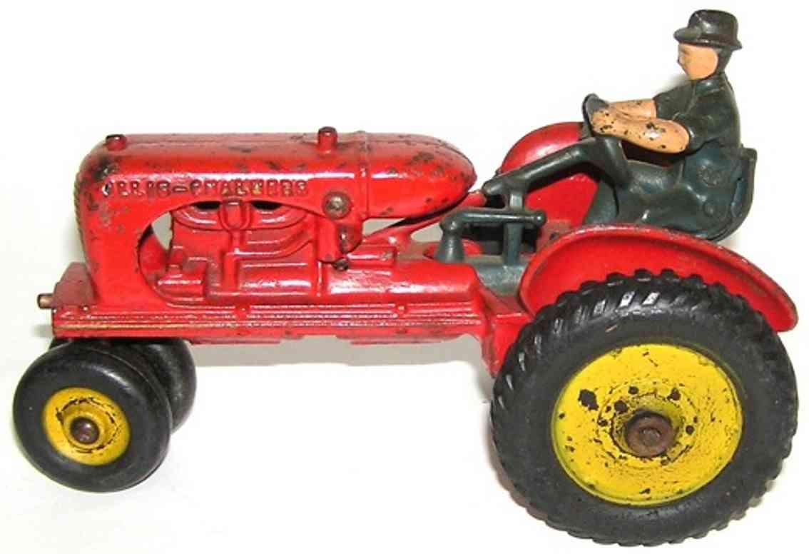 arcade spielzeug gusseisen allis chalmer traktor rot