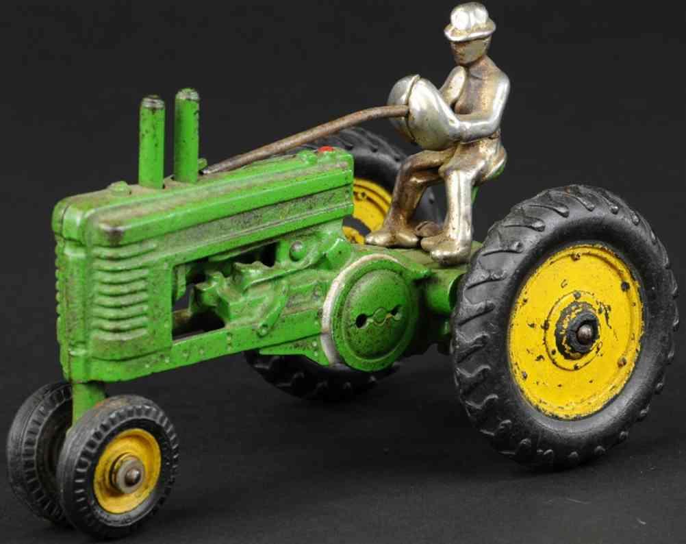 arcade spielzeug gusseisen john deere traktor a gruen