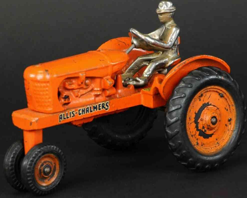 arcade spielzeug gusseisen alis chalmers traktor orange