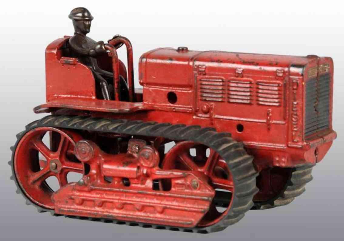 arcade spielzeug gusseisen traktor rot