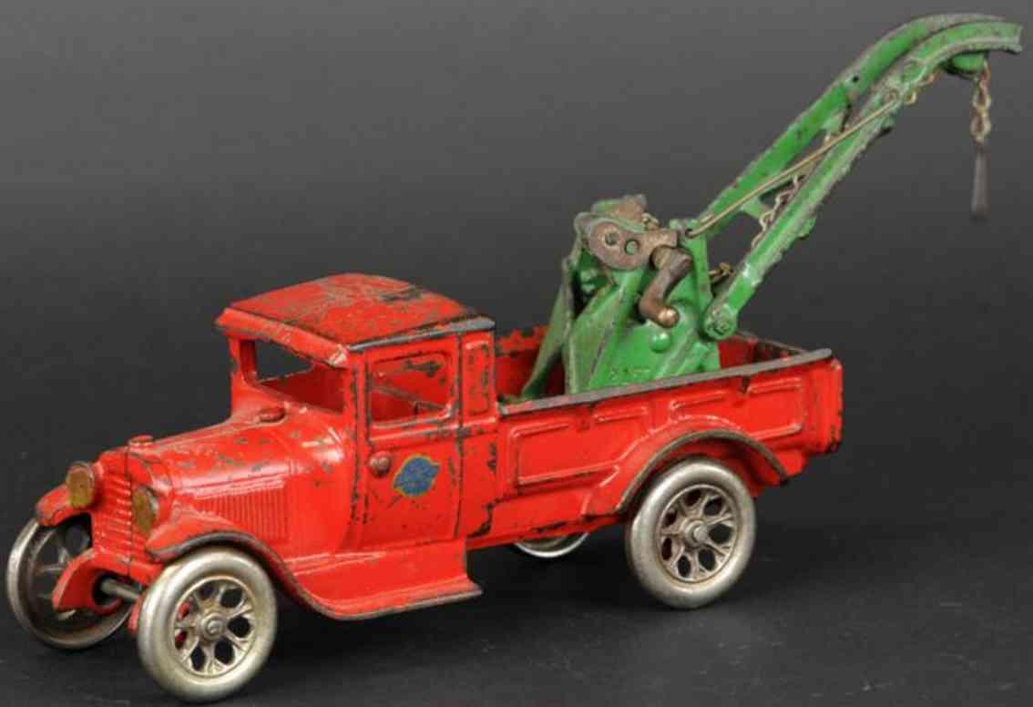 arcade spielzeug gusseisen abschleppwagen modell a rot