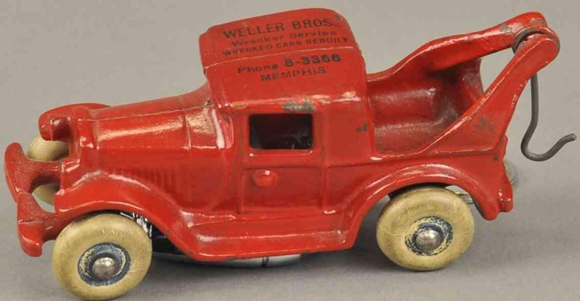 arcade spielzeug gusseisen austin abschleppwagen rot