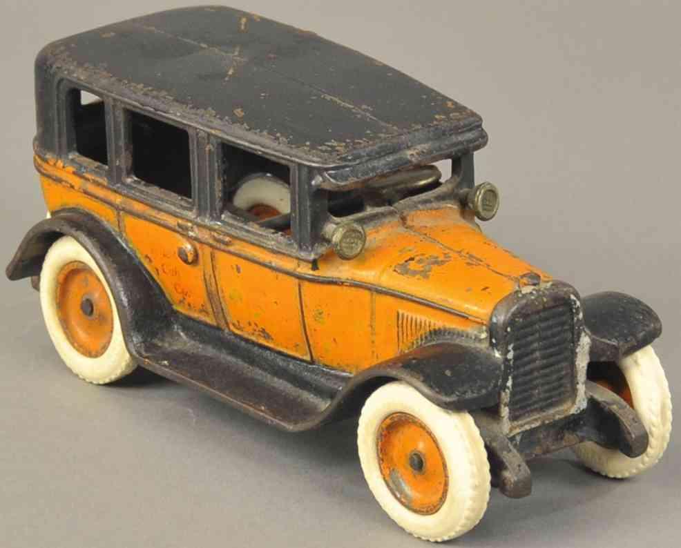 arcade spielzeug gusseisen auto taxi mit flachdach park 1345