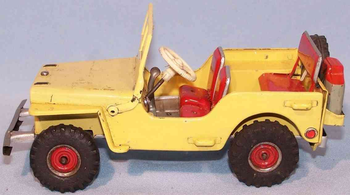 arnold 2700 tin toy jeep 2700 yellow