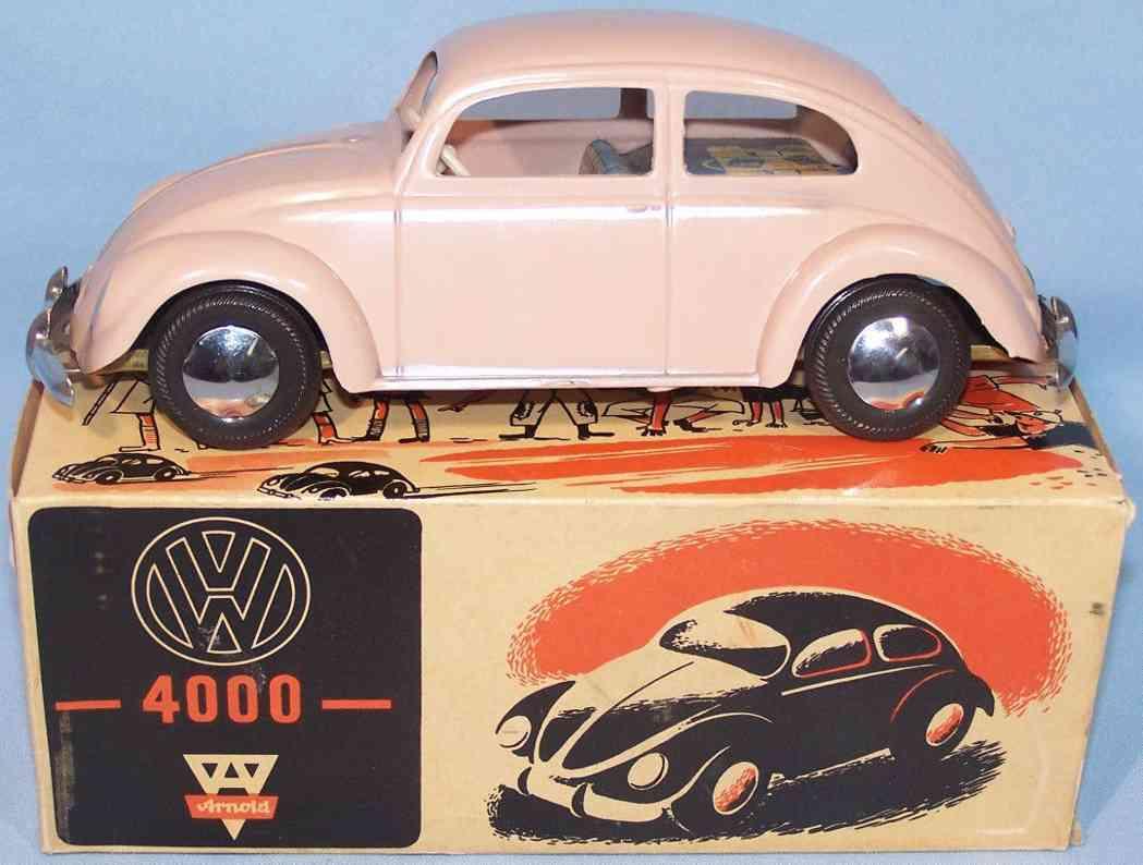 arnold 4000 blech spielzeug auto brezelkaefer rosa