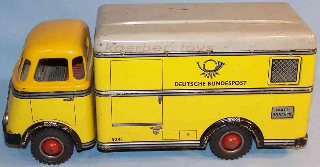 arnold 5241 blech spielzeug post-lastwagen daf friktionsantrieb