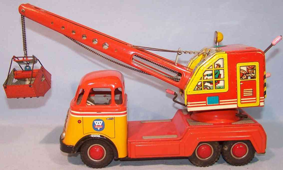 arnold 678 tin toy excavator car daf truck fuchs digger