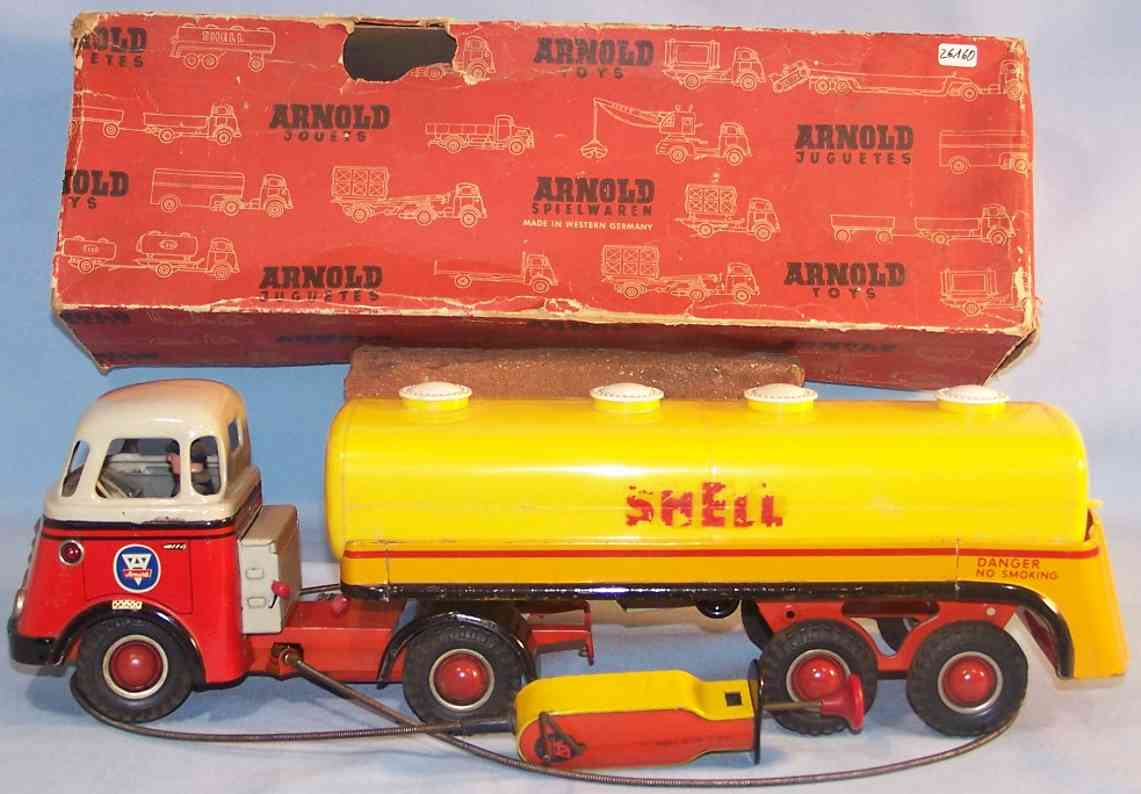 Arnold 678 Truck with shell semitrailer of tin and plastic