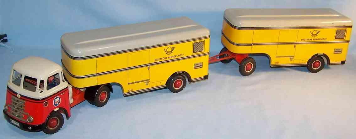 Arnold 678 DAF Post Lastwagen mit Anhänger