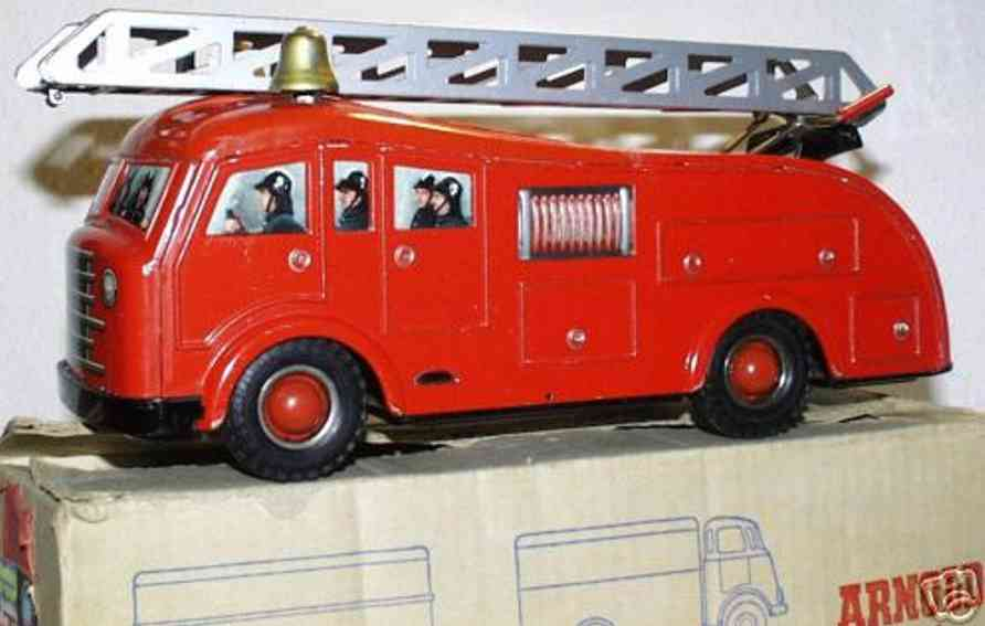 arnold 5500 tin toy fire engine department car london