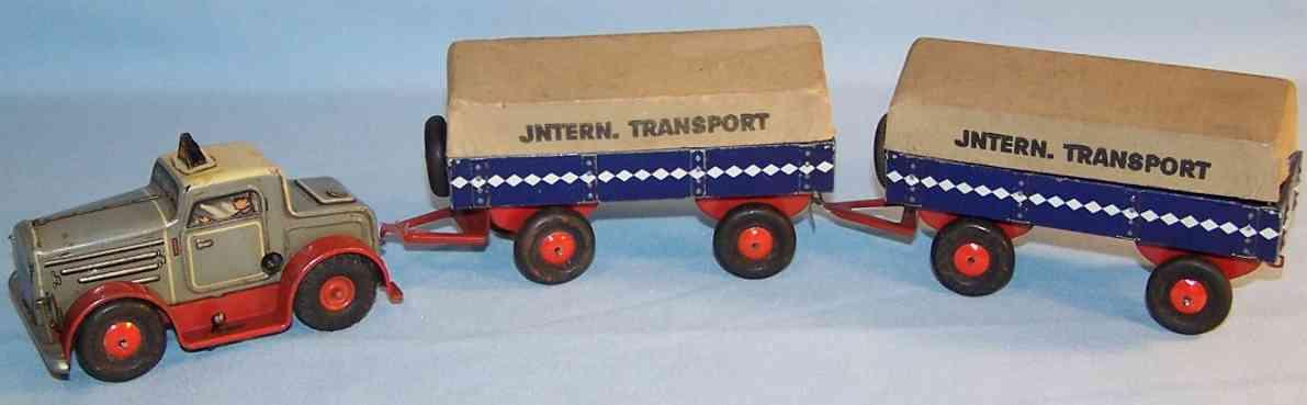 arnold 215 blech spielzeug lastwagen zwei anhaenger