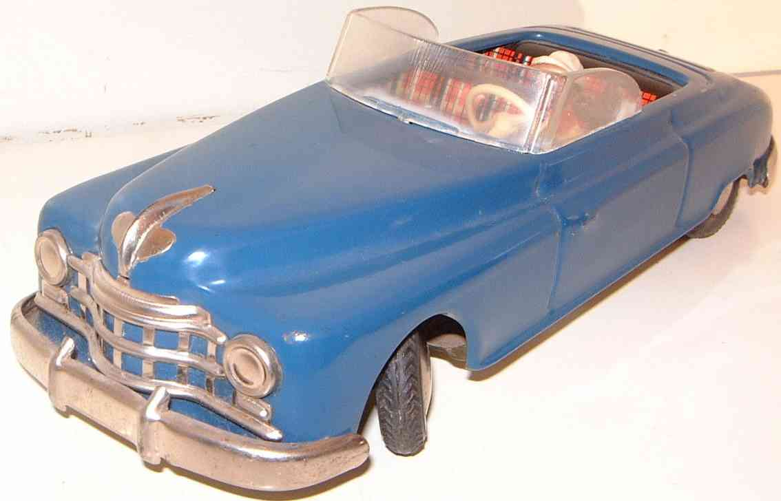 arnold tin toy car four-seater cabriolet candidat blue
