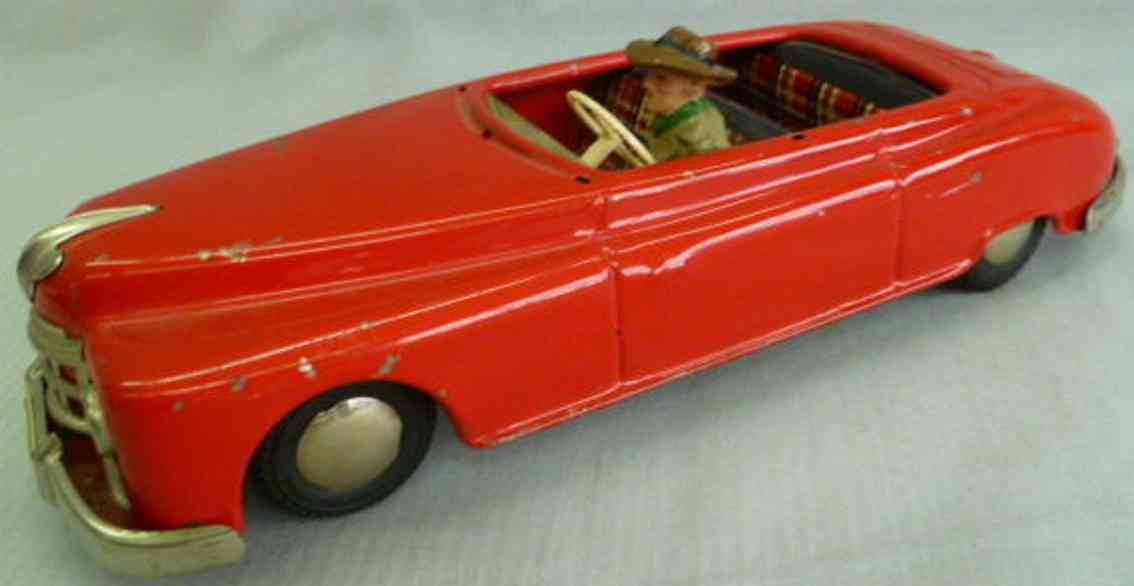 arnold tin toy car candidat convertible friction driver red