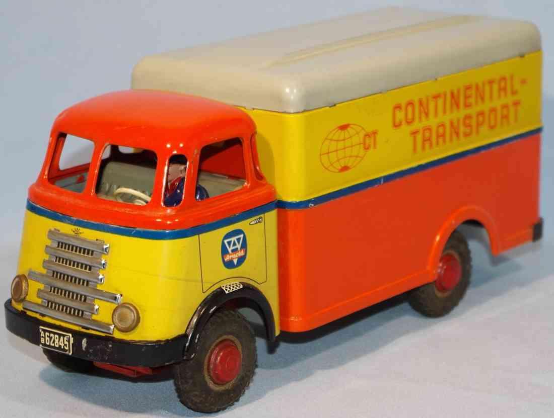 arnold blech spielzeug continental transport lastwagen