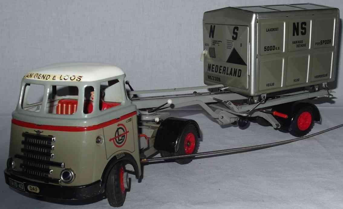arnold blech spielzeug lastwagen daf sattelzug