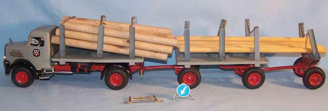 Arnold Langholzlastwagen mit Anhänger und Einachshänger
