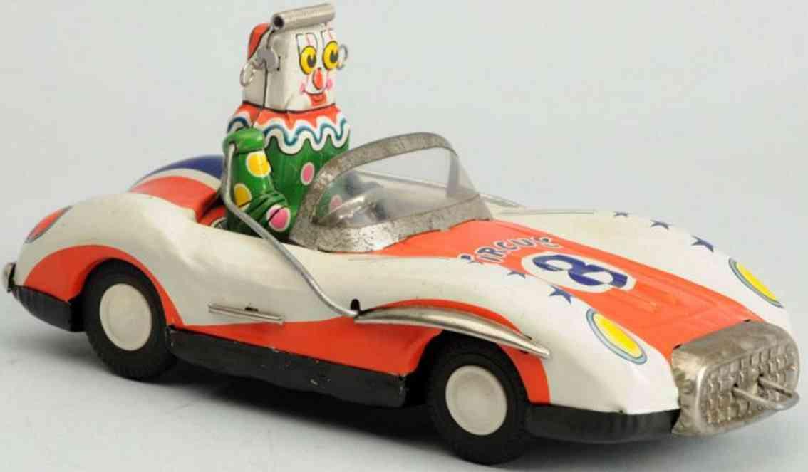 asahi atc tin toy friction circus robot car