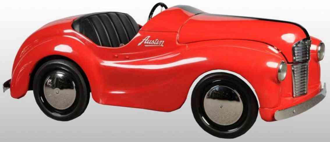 austin pressed steel toy austin summerset coupe pedal car red