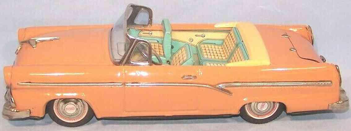 bandai ford fairlane 500 blech spielzeug auto beige friktionsantrieb lachsfarben