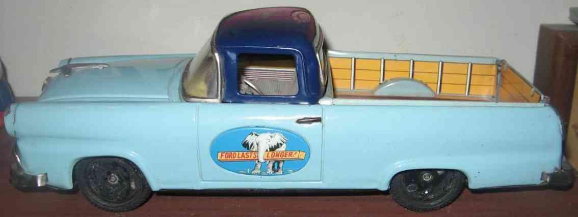 bandai tin toy car ford ranchero tin friction car