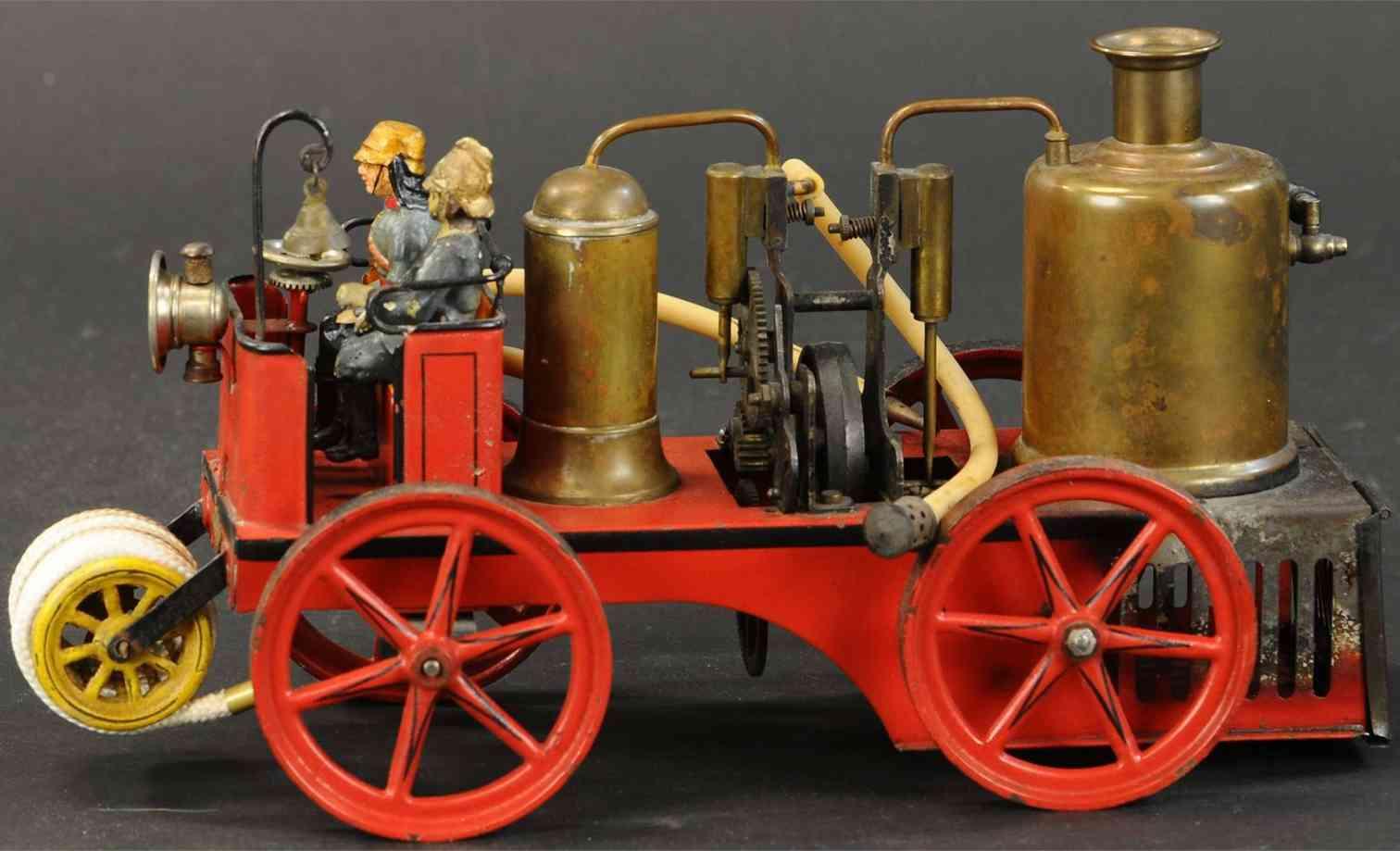 bing 13954/2 tin toy engine lives steam fire pumper