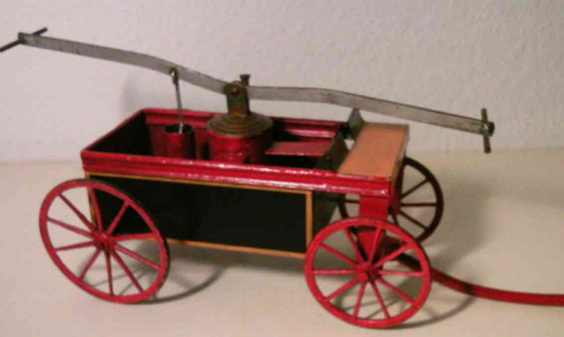 bing 156/25 tin toy fire-extinguisher with shaft
