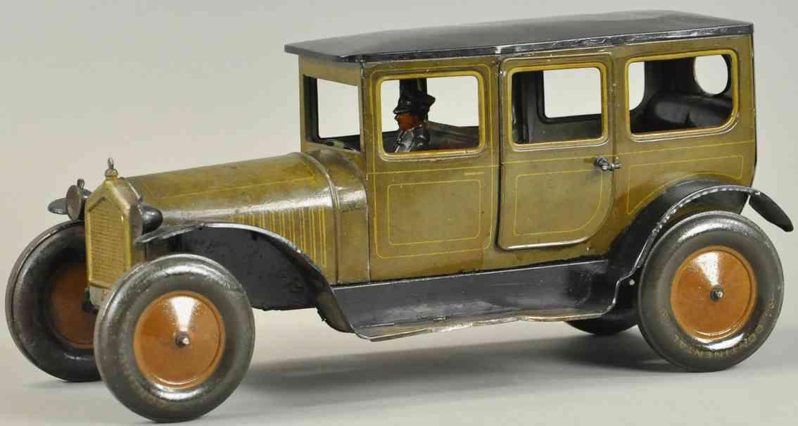bing blech spielzeug auto limousine mit fahrer beige