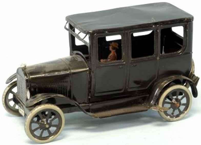 bing blech spielzeug auto limousine schwarz fahrer