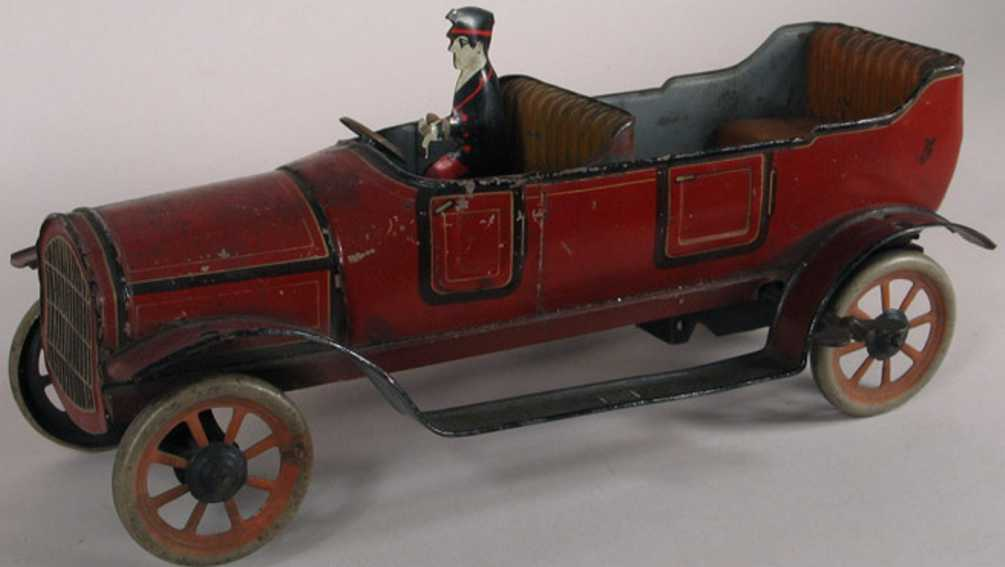 bing tin toy car touring car with wind-up mechanism