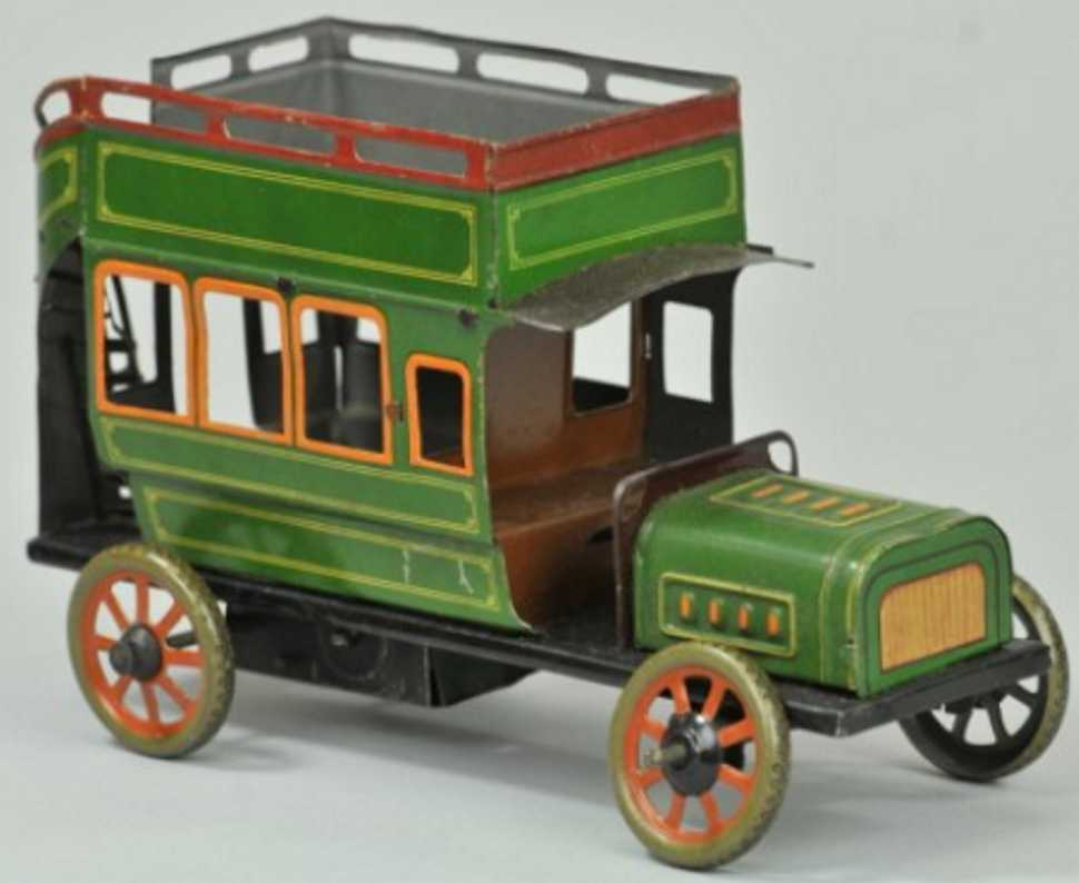 bing 14299/1 tin toy bus in green
